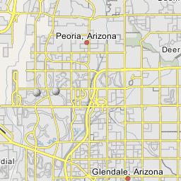 Map Of Arizona Only.Vistancia Peoria Arizona
