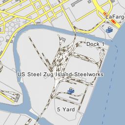 Rouge River Michigan Map.Detroit Edison River Rouge Power Plant River Rouge Michigan